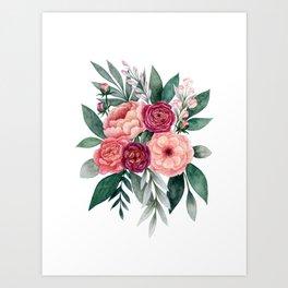 Romantic Bouquet Art Print
