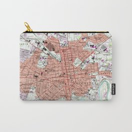Vintage Map of Lancaster Pennsylvania (1956) 2 Carry-All Pouch
