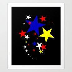 Star Colours Art Print