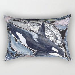 Dolphin, orca, beluga, narwhal & cie Rectangular Pillow