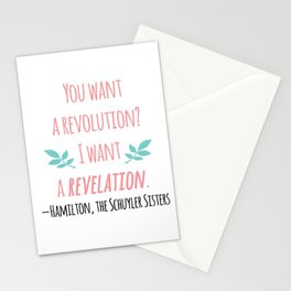 THE SCHUYLER SISTERS | HAMILTON Stationery Cards