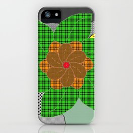 pattern with flower iPhone Case