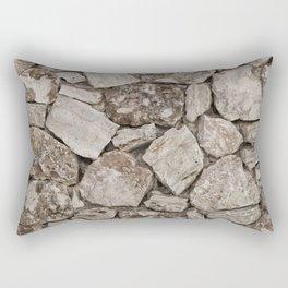 Old Rustic Stone Wall Rectangular Pillow