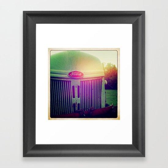 Sunset grill Framed Art Print
