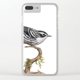 Black-and-White Warbler (Mniotilta varia) Clear iPhone Case
