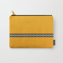 NY Taxi Cab Yellow with Black and White Check Band Carry-All Pouch