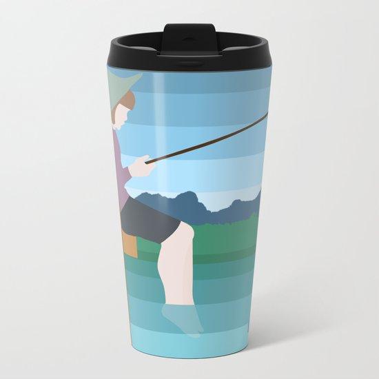 FISHING Metal Travel Mug