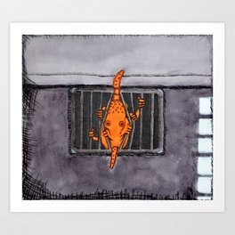 Breakout Octopus Art Print