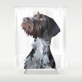 German Wirehaired Pointer Shower Curtain