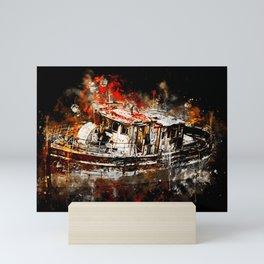 old ship boat wreck ws std Mini Art Print