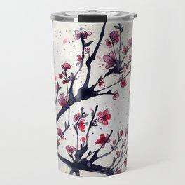 Sakura Sakura watercolour Travel Mug