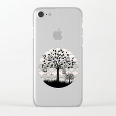 Paper landscape B&W Clear iPhone Case