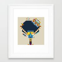 70s Framed Art Prints featuring 70s by Jaye Kang