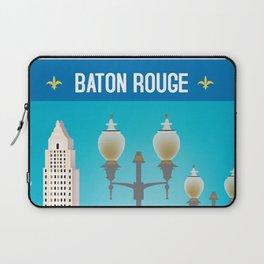 Baton Rouge, Louisiana - Skyline Illustration by Loose Petals Laptop Sleeve