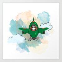 FLYING PENGUIN Art Print