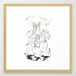 Three of Cups Framed Art Print