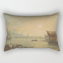 Joseph Mallord William Turner Teignmouth, Devonshire - 1813 Rectangular Pillow