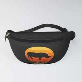 Save Chubby Unicorns Unicorn Rhinoceros Fanny Pack