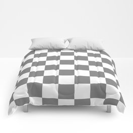 Checkered - White and Gray Comforters
