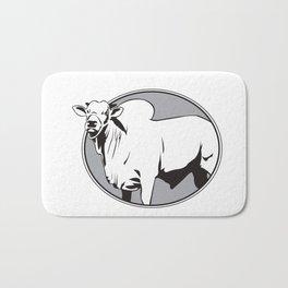 Bull zebu vintage logo Bath Mat