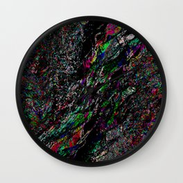 Shattered TV Wall Clock