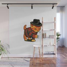 Nightmeow on Elm Street Wall Mural