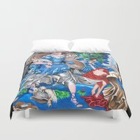 sam smith Duvet Covers featuring Blue Fairy, Sam Fan Art by Annette Jimerson