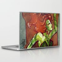 poison ivy Laptop & iPad Skins featuring Poison Ivy  by Sako Tumi