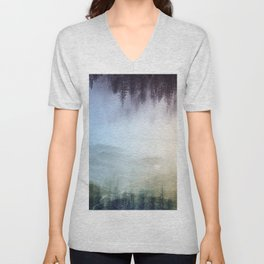 flipped forest Unisex V-Neck