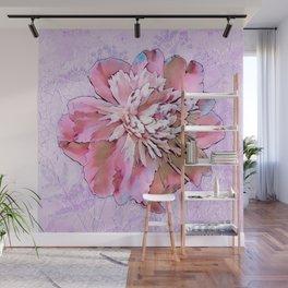 Garden Fresco Peony flower Wall Mural