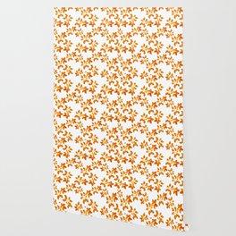 Orange Leaf Art Wallpaper