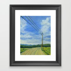 Vermont Backroad Framed Art Print
