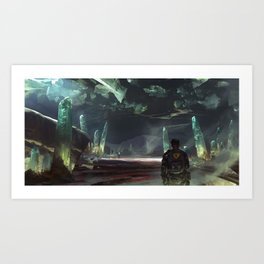 Cave of Lights Art Print