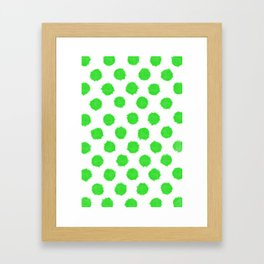 Bright Lime Green Polka Dots to Cheer You Up Framed Art Print