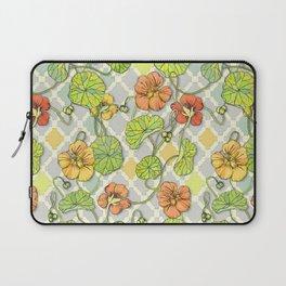 Climbing Nasturtiums in Lemon, Lime and Tangerine Laptop Sleeve