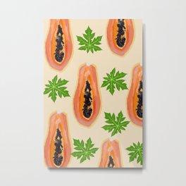 Sweeter Papaya #fruit #food Metal Print