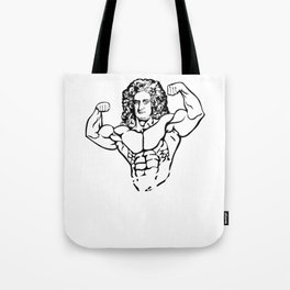 Funny Bro Science Design - Gift for Weightlifter Nerd - Bro Scientist Isaac Newton Tote Bag