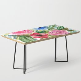 Watercolor Floral Bouquet No. 1 Coffee Table