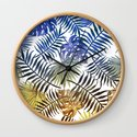 Blue Gold Tropical Leaves by mydream