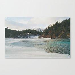 Frozen Bow Falls, Banff, Alberta, Canada Canvas Print