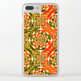 Colorful geometric abstract Clear iPhone Case