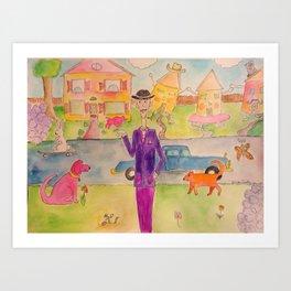 Happy Houses Art Print