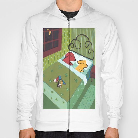 Night Time with Dogs Hoody