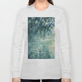 1898-Claude Monet-Morning on the Seine- 73 x 91 Long Sleeve T-shirt