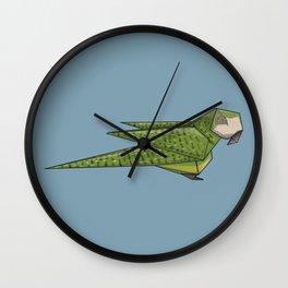 Kākāpō Origami Wall Clock