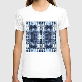 Blue Shibori Plaid T-shirt