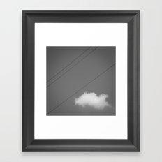 String & Cloud Framed Art Print