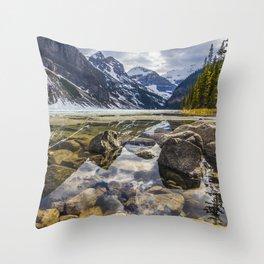 Mirroring Lake Louise Throw Pillow