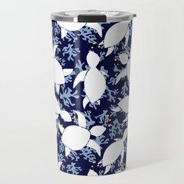 LeatherBack Sea Turtle print pattern Nautical Travel Mug