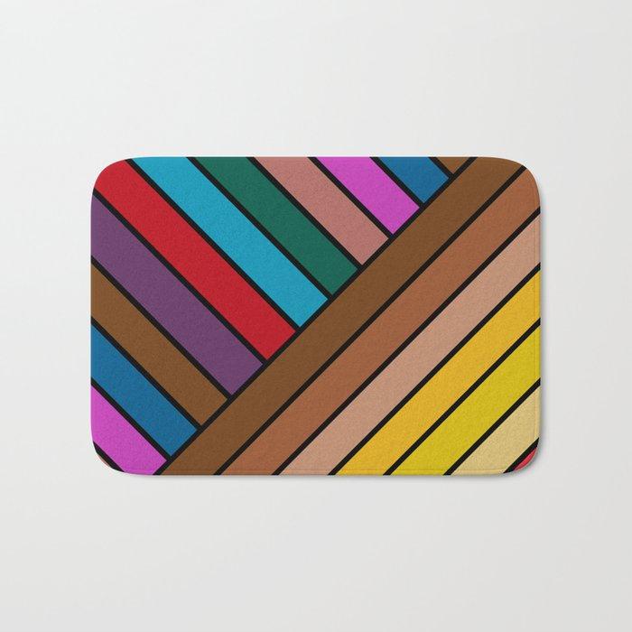 Colorful Lines Bath Mat